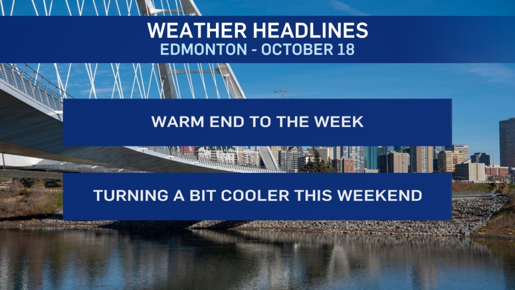 Edmonton weather for Friday, October 18