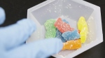 Edible marijuana samples are set aside for evaluation at a cannabis testing laboratory in Santa Ana, Calif. (Chris Carlson / THE CANADIAN PRESS / AP)