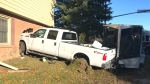 Truck smashes through wall of Ont. house after cra