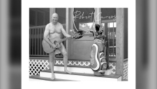 Fourteen men in a southern Manitoba town have shown their community spirit by daring to bare it all for a new community calendar to raise money for their local recreation complex. (Photos submitted.)