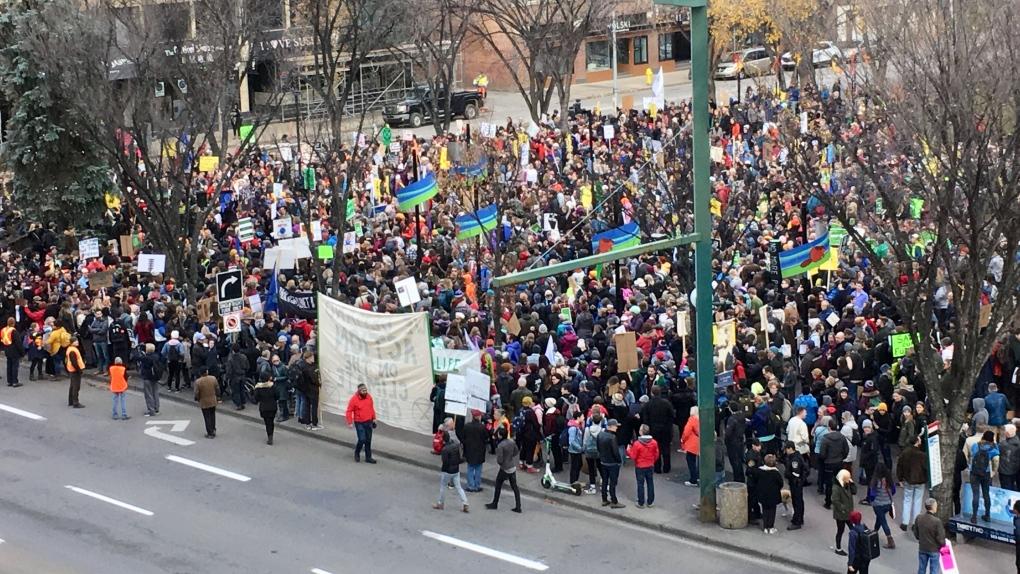 Climate activist Greta Thunberg in Edmonton