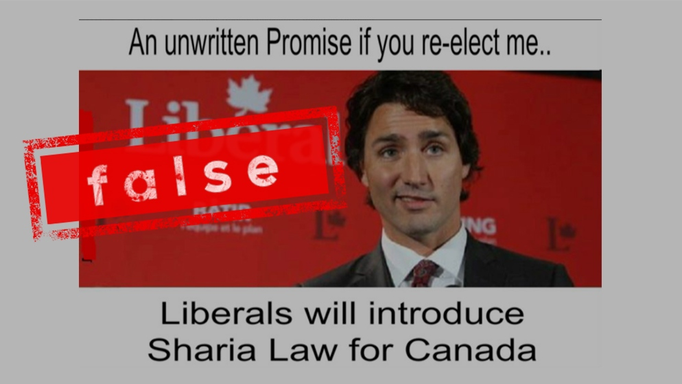 Does Justin Trudeau want to implement Sharia law in Canada?