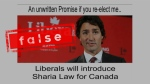 Anti-Muslim rhetoric targeting Liberal Leader Justin Trudeau has been shared by right-wing commenters online throughout the campaign, but long-standing rumours that Trudeau wants to implement Sharia law in Canada are unfounded. (CTV News)