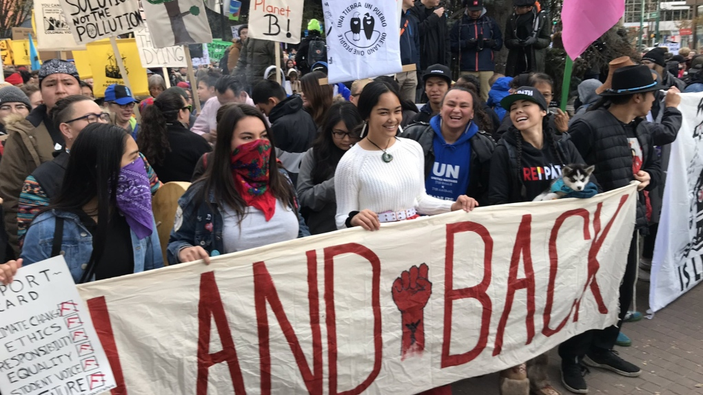 In pictures: Greta Thunberg draws large crowd to Edmonton climate change rally