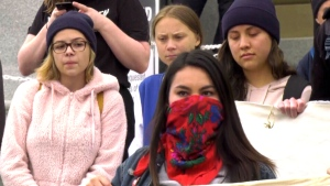 Greta Thunberg attends climate rally in Edmonton