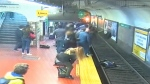 Caught on cam: Woman falls onto subway tracks