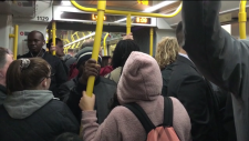 Riders on the O-Train of Ottawa LRT