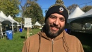Adriano Ciotoli of Windsor Eats prepares for the seventh annual Windsor Craft Beer Festival at Willistead Park on Oct. 18 and 19, 2019. (Rich Garton / CTV Windsor)