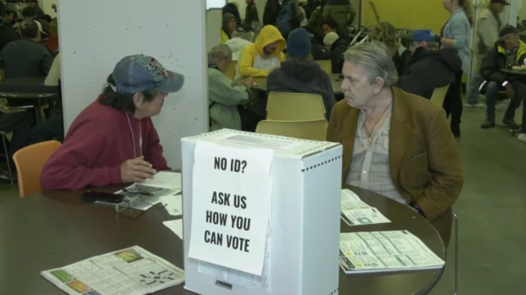Not having a permanent address can be a barrier to voting, according to Vancouver's Union Gospel Mission.