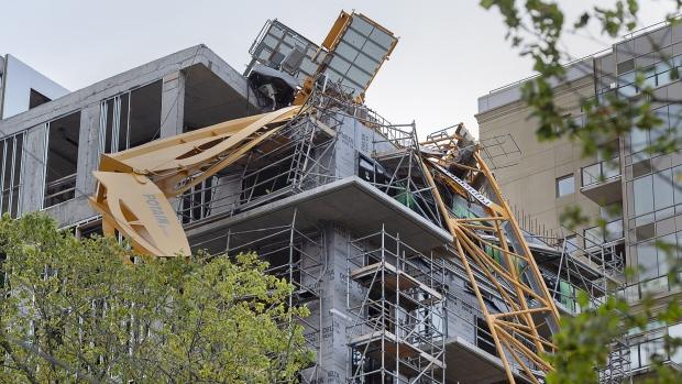 collapsed crane