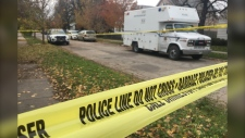 A Winnipeg police identification unit on Riverton Avenue Friday. (Glenn Pismenny/CTV News).
