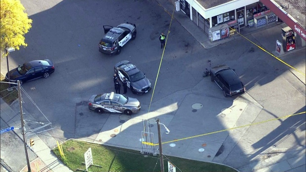 An elderly woman was struck by a vehicle Friday afternoon near Bathurst Street and Sheppard Avenue West. (CTV News Toronto)
