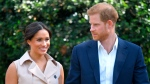 In this Wednesday Oct. 2, 2019 file photo, Britain's Harry and Meghan, Duchess of Sussex arrive at the Creative Industries and Business Reception at the British High Commissioner's residence, in Johannesburg. (Dominic Lipinski/Pool via AP, File)
