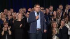 Scheer holds a rally in Drummondville, Que.