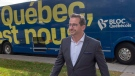 Bloc Quebecois leader Yves-Francois Blanchet walks from his campaign bus while campaigning Wednesday, October 16, 2019 in Beloil, Que.THE CANADIAN PRESS/Ryan Remiorz