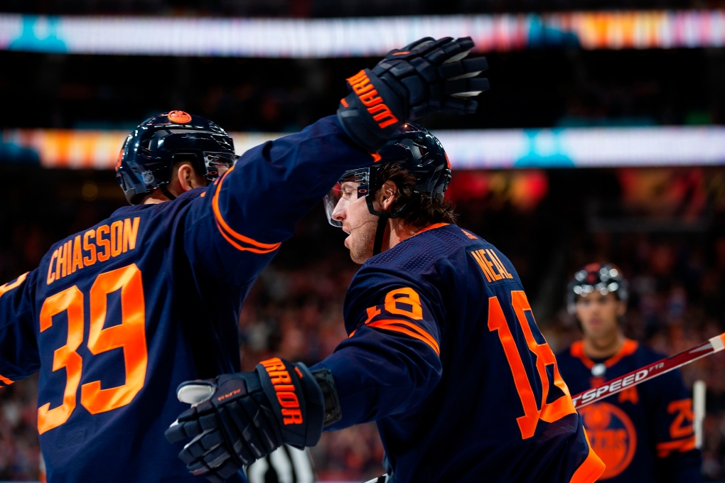 Oilers, Oct. 18, James Neal, Alex Chiasson