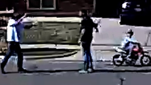 Man pulls a gun on neighbour over kid's bikes