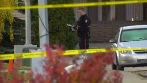 Police tape Edmonton assault