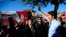 Liberal leader Justin Trudeau makes a campaign stop in Whitby, Ont. on Friday Oct. 18, 2019. THE CANADIAN PRESS/Sean Kilpatrick