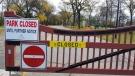 Kildonan Park has been closed for public safety reasons, the city said on Oct. 19, 2019 (Daniel Timmerman/CTV News Winnipeg)