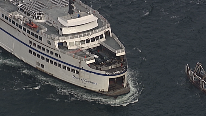 Nanaimo RCMP were called to the Departure Bay ferry terminal just after midnight on Sunday as the Queen of Cowichan ferry was arriving from Horseshoe Bay. (File photo)