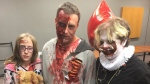 Zombies were participating in a good cause for the 2019 K-W Zombie Walk on Saturday, Oct. 19, 2019. (Krista Sharpe / CTV Kitchener)