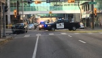 Calgary police have closed off a section of the downtown core on Saturday afternoon.