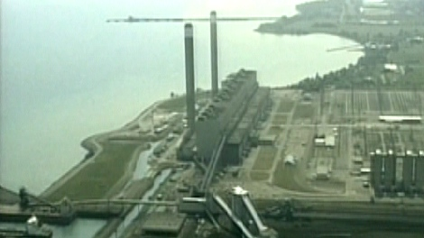 The Nanticoke coal-fired power plant on the shores of Lake Erie near Simcoe, Ont.