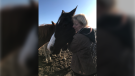Tammy Jack was reunited with her horse after it was seized in a neglect investigation earlier this year. Oct. 19, 2019. (Supplied)