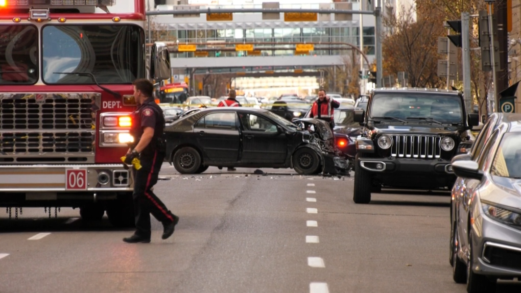 Officer-involved shooting closes Calgary downtown
