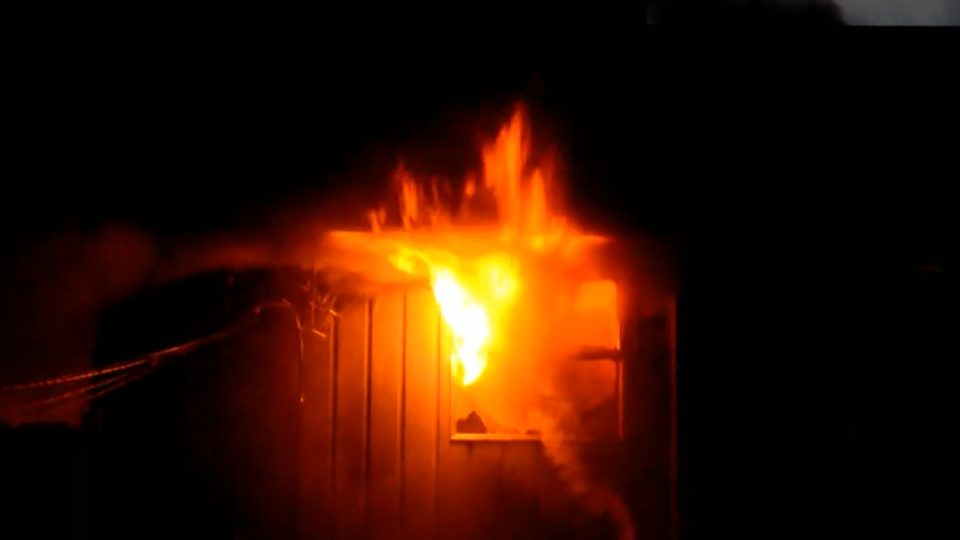 A massive fire destroyed a two-storey home in Langley early Saturday morning. (CTV)