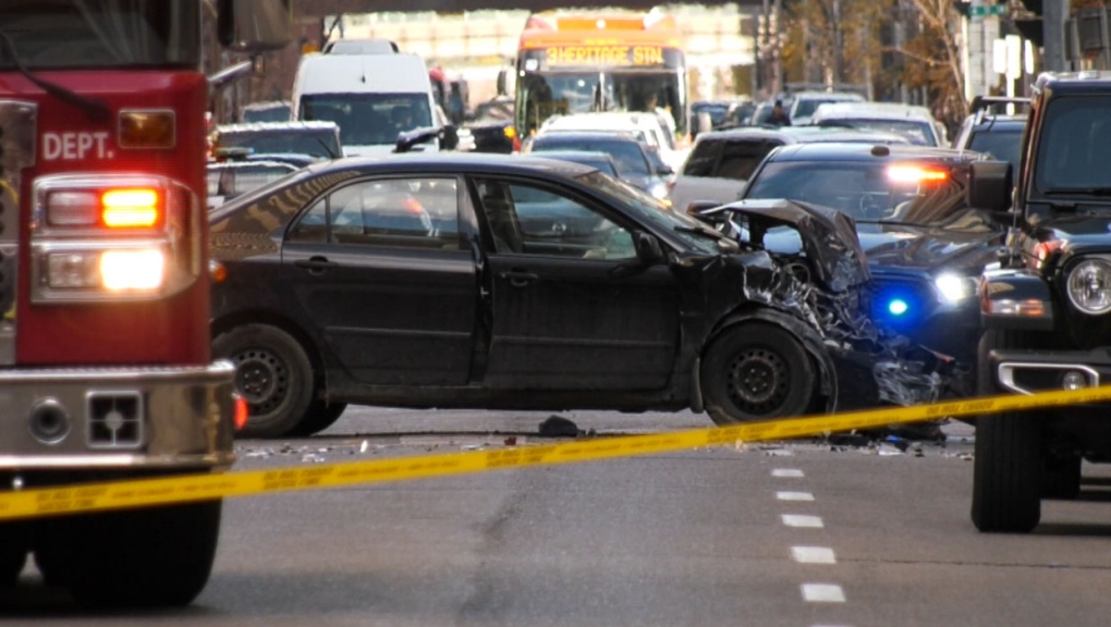 Calgary police charge occupants of stolen car in downtown officer-involved shooting incident