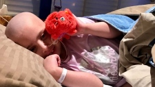 Seven-year-old Ellie White's family is hoping to travel to Columbus, Ohio for an experimental leukemia treatment. (Photo: Kelly Greig/CTV Montreal)