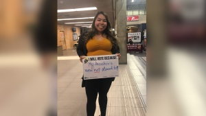 This fall, CFS got voters at the University of Manitoba to write why they planned to vote. (All photos: Canadian Federation of Students)