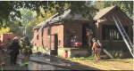 A fire at a home on Crumlin Sideroad on Saturday, Oct. 20, 2019 in London, Ont. gutted the house. (Brent Lale / CTV London)
