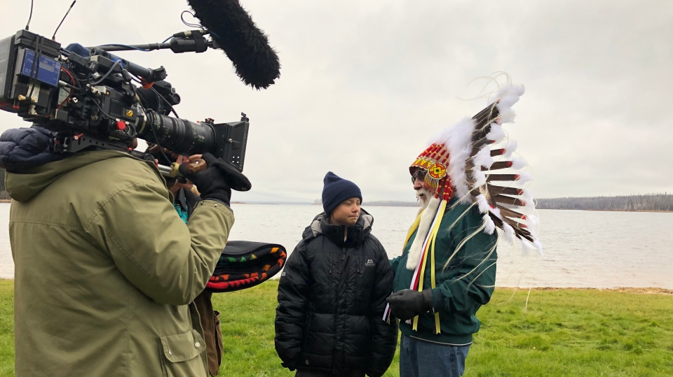 A BBC documentary crew filmed Greta Thunberg's meeting with Mikisew Cree First Nation when she visited the Fort McMurray region on Oct. 19, 2019.