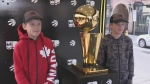NBA championship trophy arrives in Kitchener