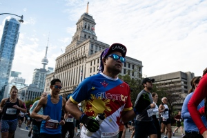 Runners compete at the start of the 2019 Scotiabank Toronto Waterfront Marathon, in Toronto, on Sunday, Oct., 20, 2019. THE CANADIAN PRESS/Christopher Katsarov