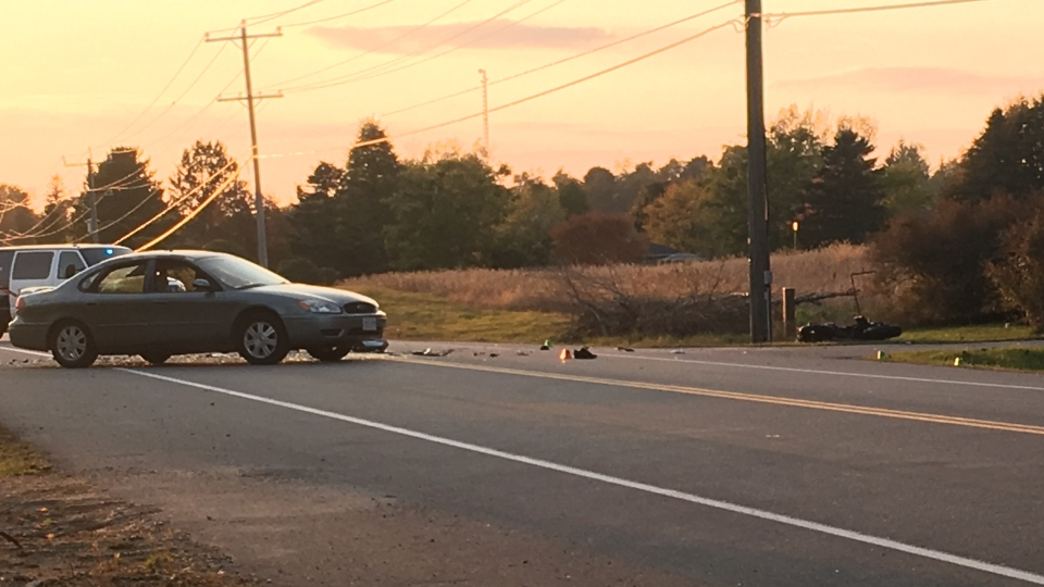 WRPS investigate a crash between a motorcycle and a car in Wilmot.