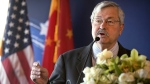 FILE - In this June 30, 2017, file photo, U.S. Ambassador to China Terry Branstad speaks during an event in Beijing. (Mark Schiefelbein / AP / Pool)
