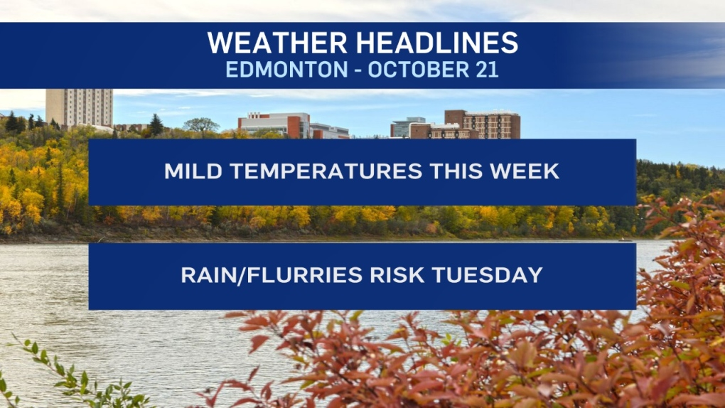 Edmonton weather for Monday, October 21