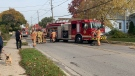 Fire crews on scene at a house fire on Egerton Street on Monday October 21, 2019. (London Fire Department)
