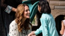 In what is being hailed as Duchess of Cambridge's first personally written Instagram post, she shared an emotional message about visiting a Pakistani orphanage with her husband, Prince William. (kensingtonroyal/Instagram)