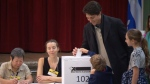 Liberal Leader Trudeau cast ballot in Montreal