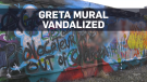 Greta mural Edmonton