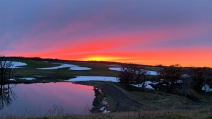 Sunset on the farm taken south of Boissevain. Photo by Debbie Graham.