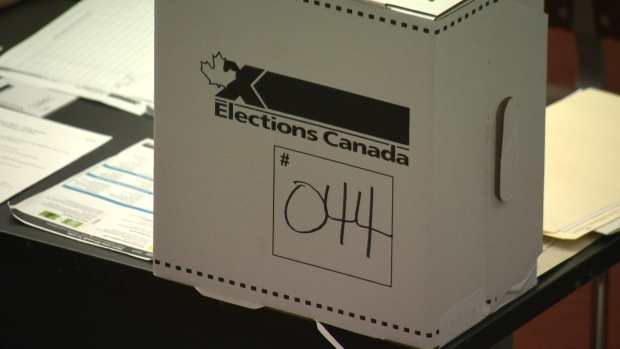 Taken at the super poll at University of Winnipeg Monday morning, prior to the opening of polls.