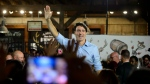 Liberal Leader Justin Trudeau holds a rally at Halifax Brewery Farmers' Market in Halifax, Tuesday, Oct. 15, 2019. (THE CANADIAN PRESS/Sean Kilpatrick)