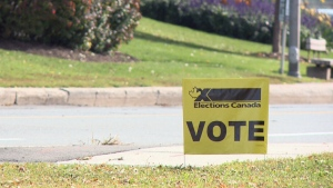 Elections Canada Vote sign in Ottawa