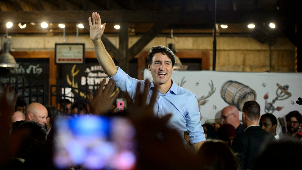 Liberal Leader Justin Trudeau holds a rally at Halifax Brewery Farmers' Market in Halifax, Tuesday, Oct. 15, 2019. THE CANADIAN PRESS/Sean Kilpatrick